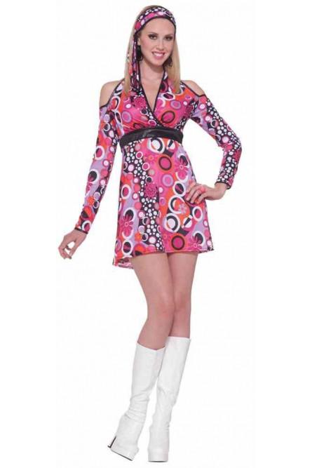 70cc25eea68963e Яркое платье в стиле 60-х - купить на Vkostume.Ru, описание, цена ...