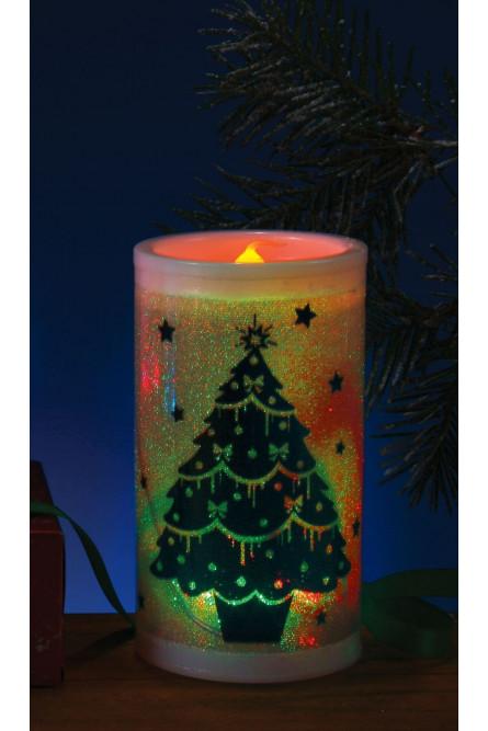 Декоративная свеча новогодняя