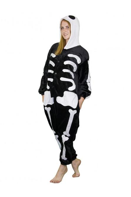 Пижама-кигуруми скелета - купить на Vkostume.Ru 6015e268e5bcd