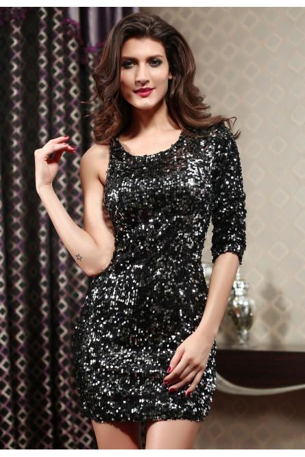 e7d780862dd3af0 Черное клубное платье с пайетками - купить на Vkostume.Ru, описание ...