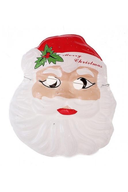 Пластиковая маска Дед Мороз