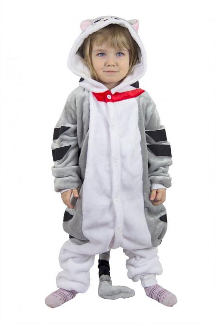 Детская пижама кигуруми Серый Кот - купить на Vkostume.Ru fa6eb3029a828