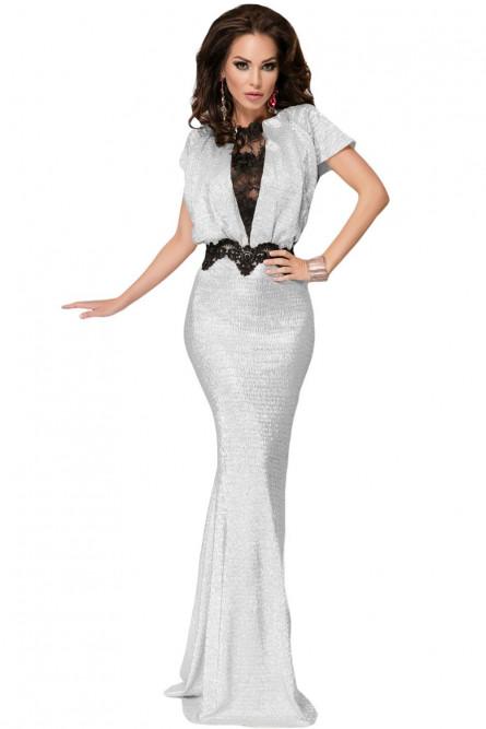 Серебряное вечернее платье - купить на Vkostume.Ru, описание, цена ... 0f345f05b79