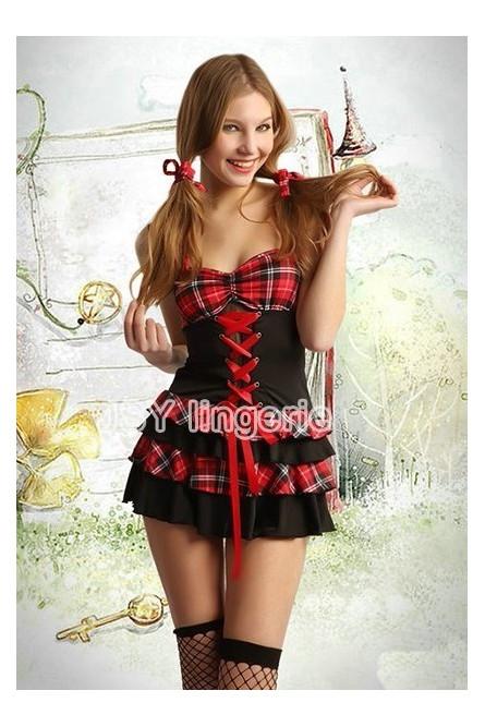 bbf1b9e090b53 Красно-черный костюм школьницы - купить на Vkostume.Ru, описание ...