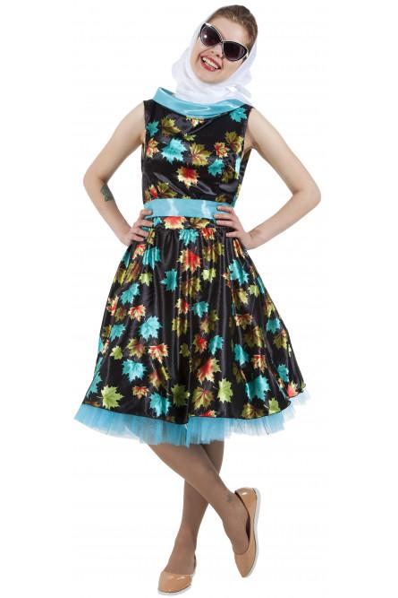 b72d4be962c7f92 Платье с листочками в стиле 50-х - купить на Vkostume.Ru, описание ...