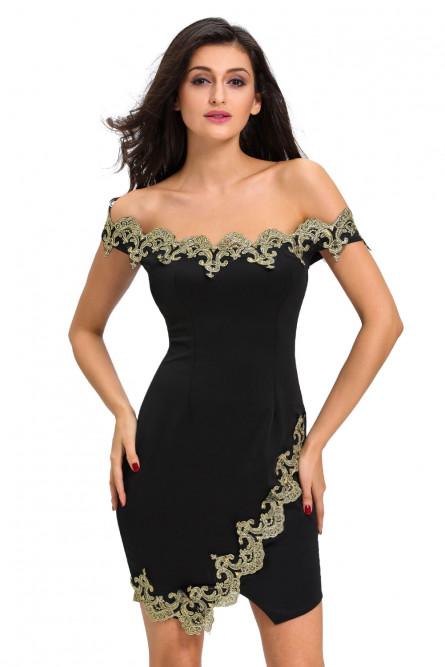 ba86fab277f Черное коктейльное платье с кружевом - купить на Vkostume.Ru ...