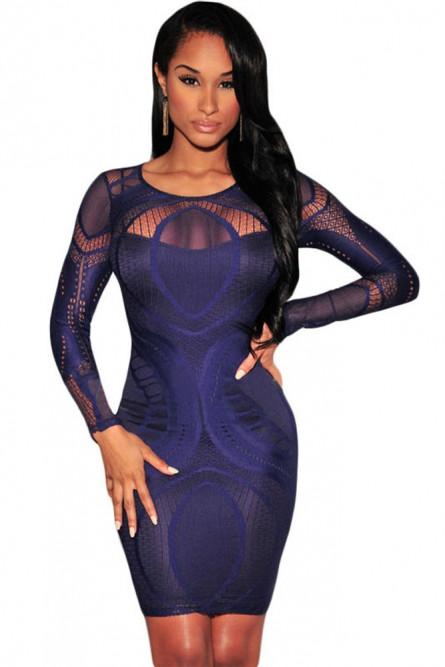 33bf4c1dff1 Синее ажурное платье - купить на Vkostume.Ru