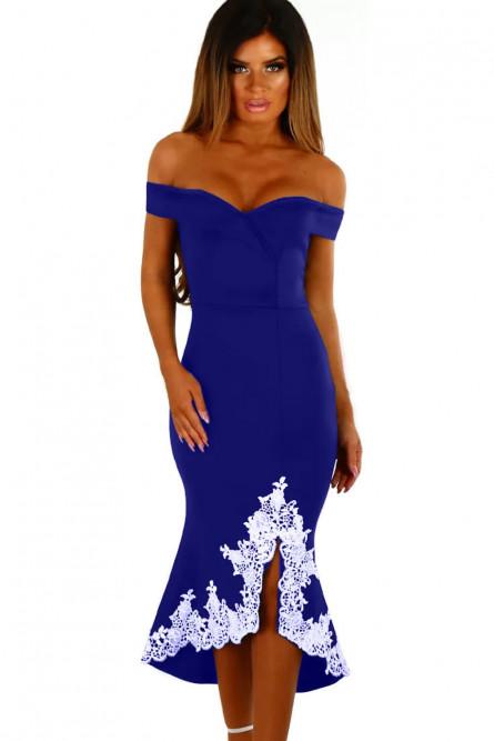 9a87bc36911 Синее платье с белым кружевом - купить на Vkostume.Ru