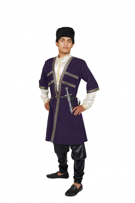 Взрослый костюм Азербайджанца (48), Черный