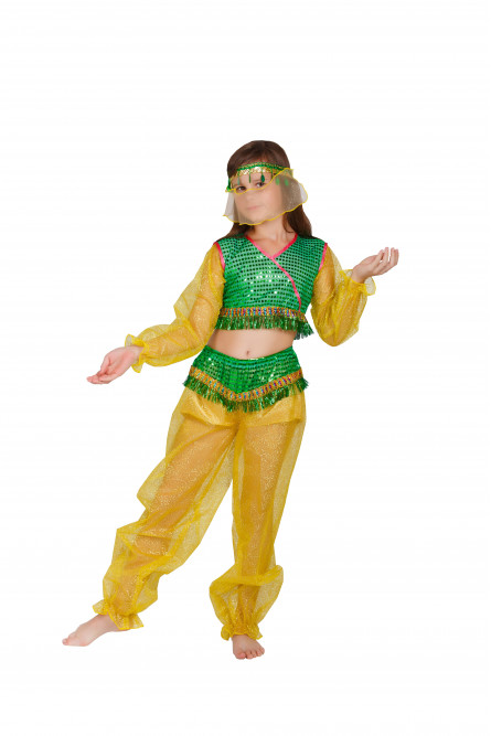Детский костюм Восточной красавицы (30-32), Желтый