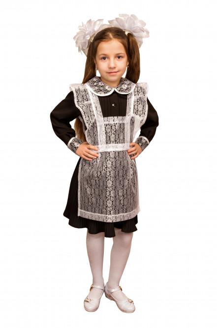 Детский фартук школьницы (32-34), Белый