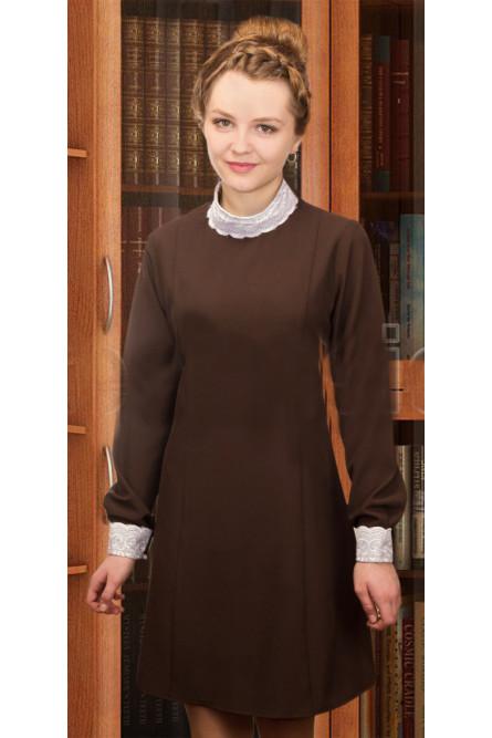 Коричневое платье Школьницы (30-32), Синий
