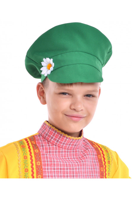 Зеленый детский картуз (UNI)