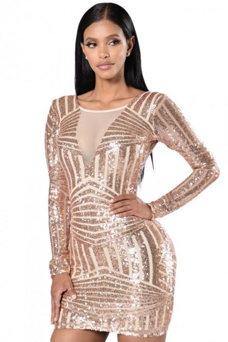 49364c43bad84a3 Золотое блестящее платье - купить на Vkostume.Ru, описание, цена ...
