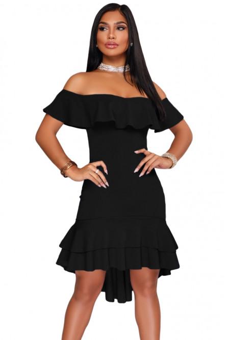 00507f90a6c Черное платье с воланами и оборками - купить на Vkostume.Ru ...