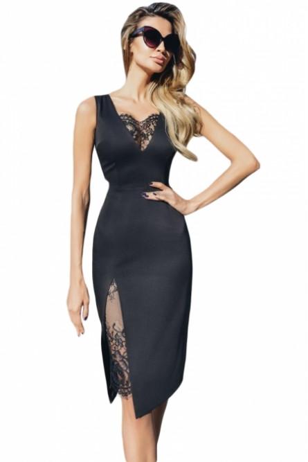 7f67d5b6ecf Черное платье с кружевной вставкой - купить на Vkostume.Ru