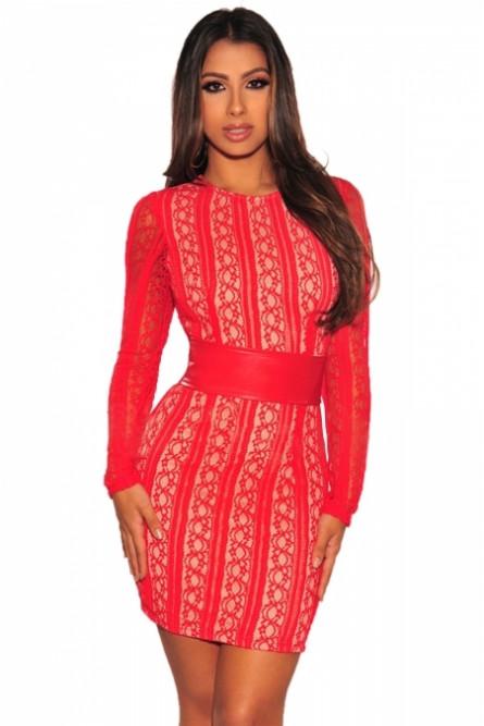 0dcd9934cd1f86a Красное короткое платье с рукавами - купить на Vkostume.Ru, описание ...