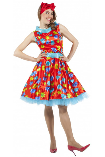 8dcdc7579fbdbd4 Красное платье стиляги 50-х - купить на Vkostume.Ru, описание, цена ...