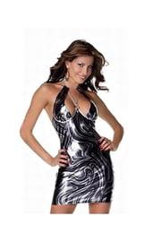 Секси виниловое платье