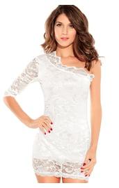 Платье белое кружевное