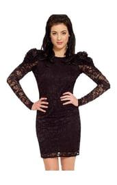 Платье кружевное с открытой спиной