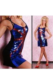 Клубное платье-британский флаг