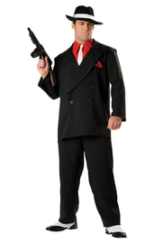Костюм гангстера в черном