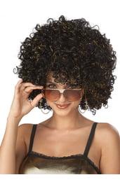Блестящий диско-парик