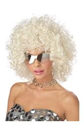 Блестящий диско-парик белый