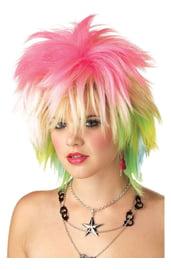 Парик девушки панка разноцветный