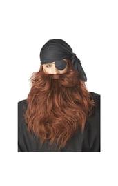 Рыжие борода и усы пирата