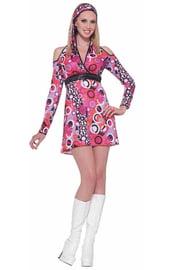 Яркое платье в стиле 60-х