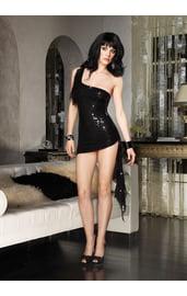 Платье асимметричное в паетках
