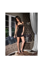Платье черное открытое по бокам