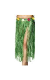 Гавайская зелёная юбка