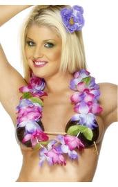 Цветочные гавайские бусы