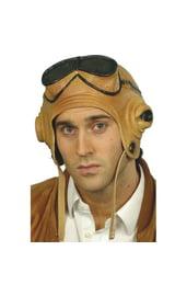 Светло-коричневый лётный шлем