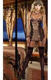 Леопардовая полупрозрачная сорочка