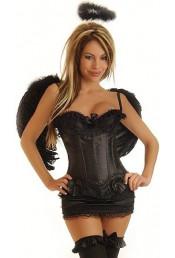 Корсетный костюм черного ангела