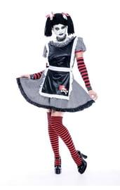 Костюм готической тряпичной куклы