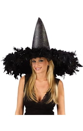Шляпа ведьмы с перьями