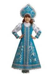 Детский костюм прекрасной Снегурочки