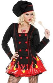 Женский костюм огненного повара