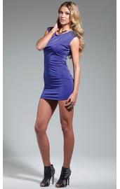 Мини-платье с бисером