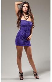 Фиолетовое обтягивающее платье