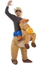 Надувной костюм Верхом на Лошади