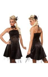 Черное платье со сборками