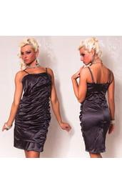 Темно-серое платье со складками