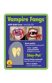 Вампирские клыки со стразами