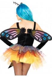Крылья бабочки с цветочками